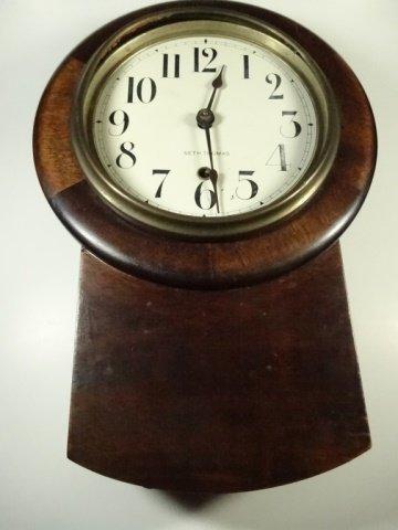 VINTAGE SETH THOMAS WALL CLOCK, MISSING GLASS, APPROX - 2