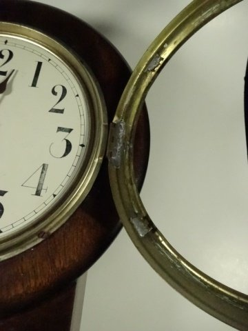 VINTAGE SETH THOMAS WALL CLOCK, MISSING GLASS, APPROX - 3
