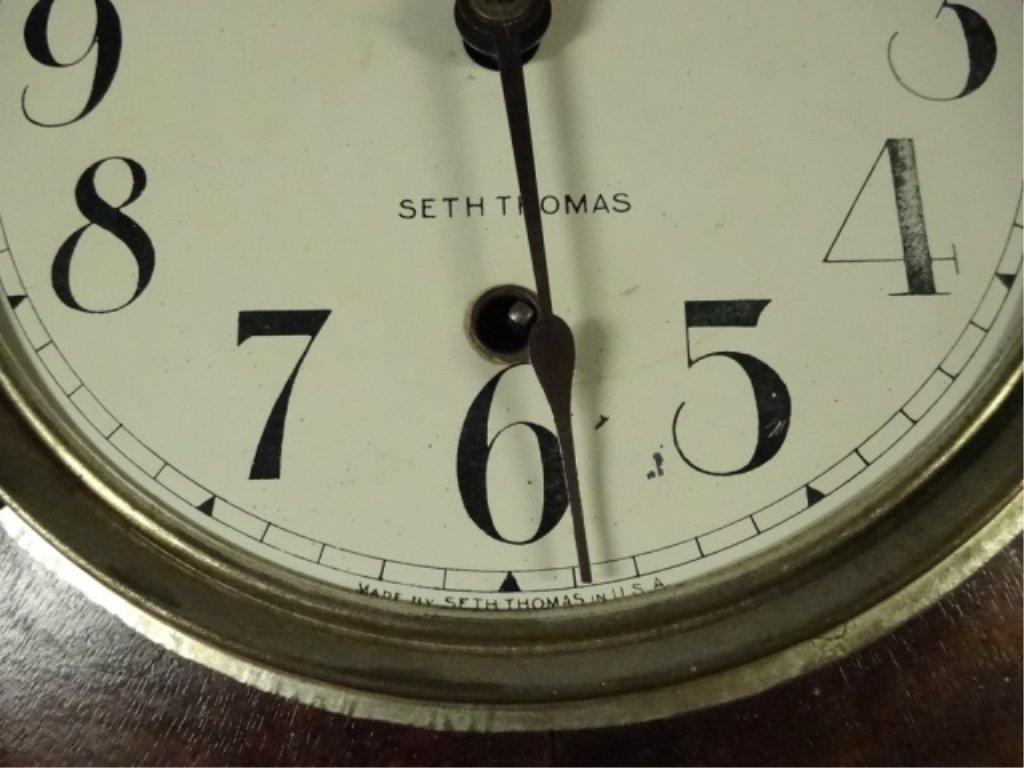 VINTAGE SETH THOMAS WALL CLOCK, MISSING GLASS, APPROX - 4