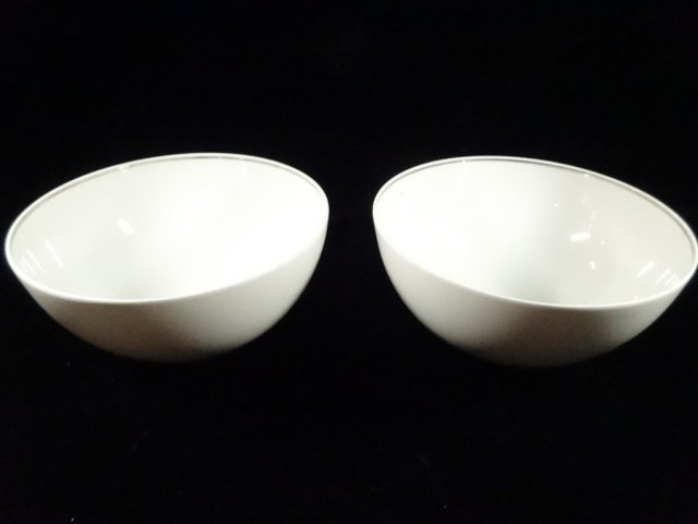 3 PC ROSENTHAL PORCELAIN SERVEWARE, 2 WHITE BOWLS AND - 3