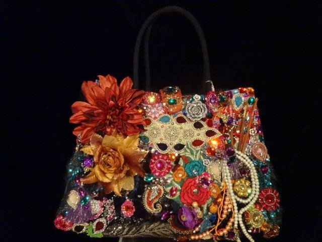 LARGE LOUIS ASSCHER DESIGN TOTE BAG, ELABORATELY - 10