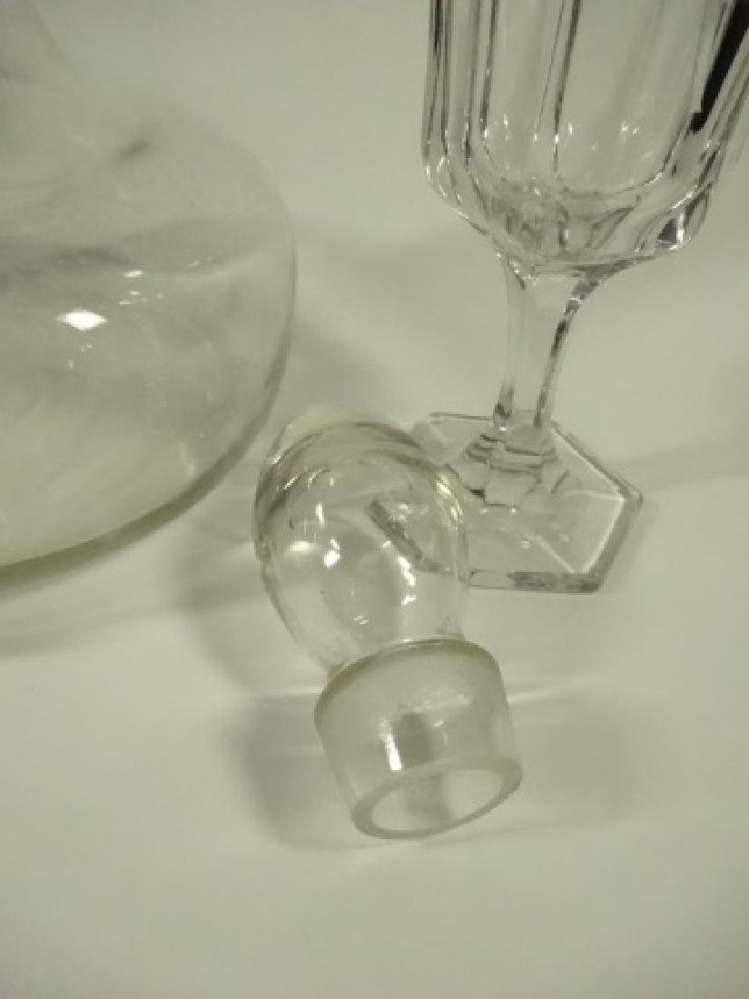 3 PC CRYSTAL DECANTER WITH 2 STEMWARE GLASSES, DECANTER - 2