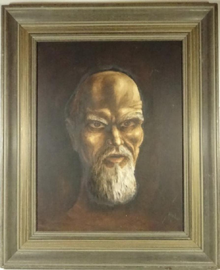 PAINTING ON CANVAS, PORTRAIT OF A MAN, SIGNED ABDO