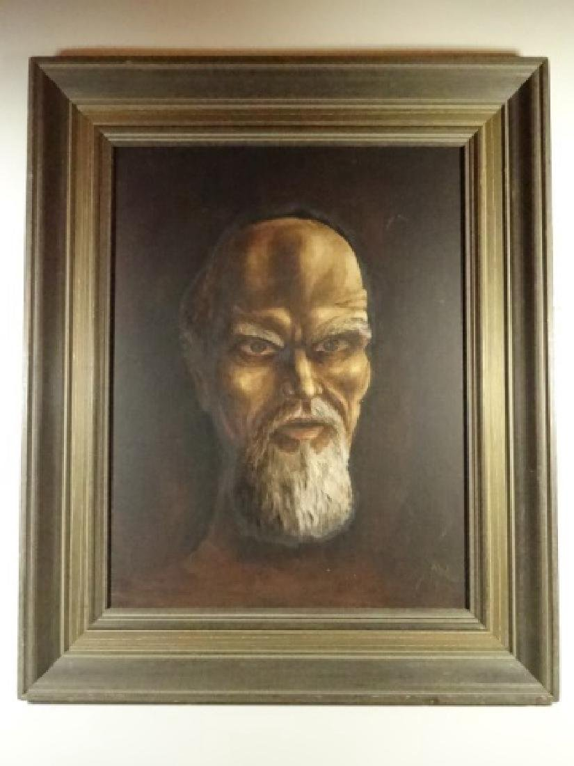 PAINTING ON CANVAS, PORTRAIT OF A MAN, SIGNED ABDO - 3
