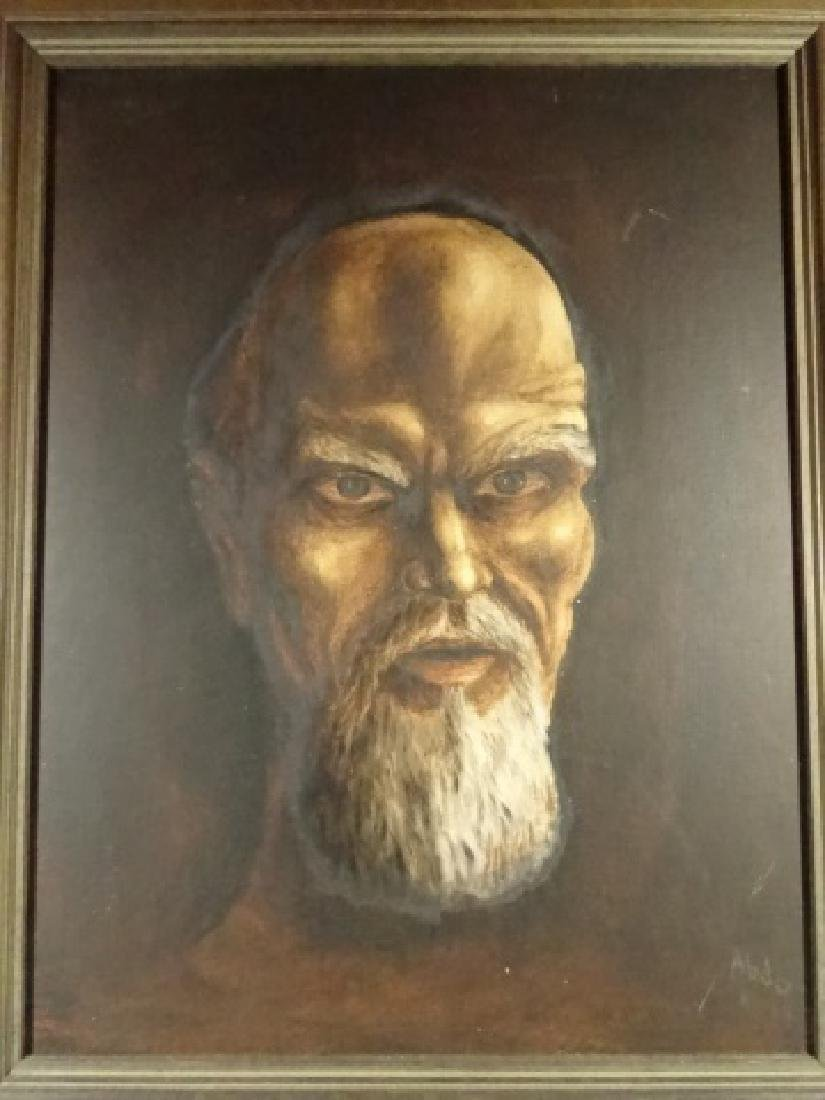 PAINTING ON CANVAS, PORTRAIT OF A MAN, SIGNED ABDO - 4