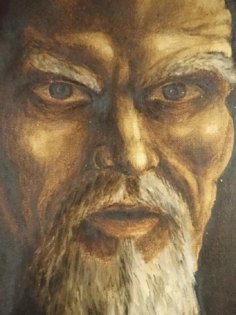 PAINTING ON CANVAS, PORTRAIT OF A MAN, SIGNED ABDO - 5
