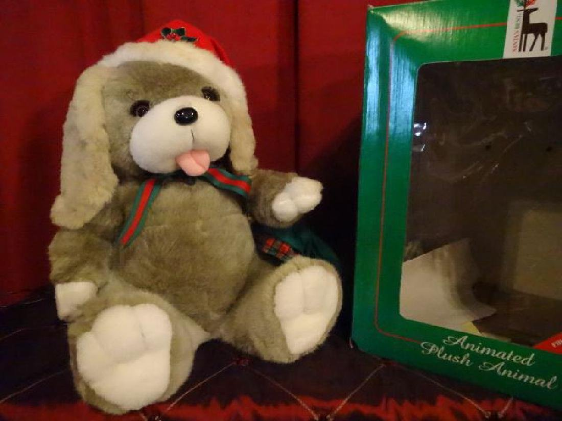ANIMATED CHRISTMAS BEAR FIGURE, IN SANTA HAT, IN - 4