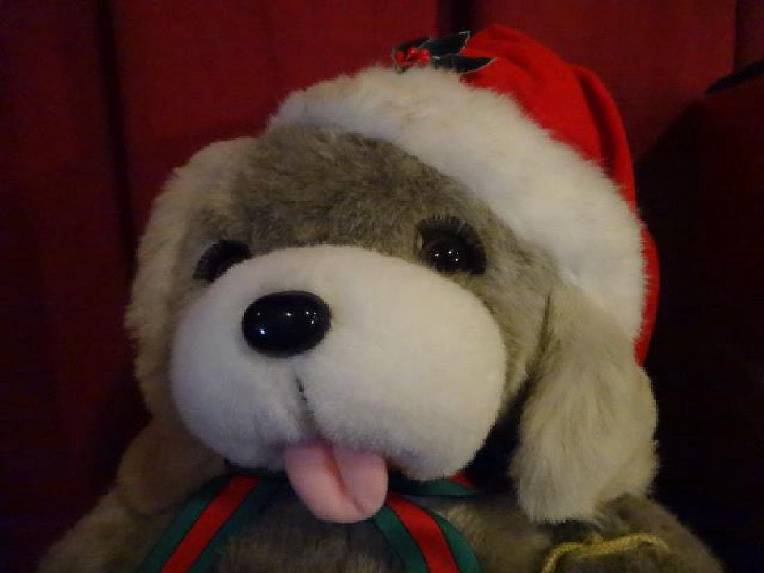 ANIMATED CHRISTMAS BEAR FIGURE, IN SANTA HAT, IN - 6