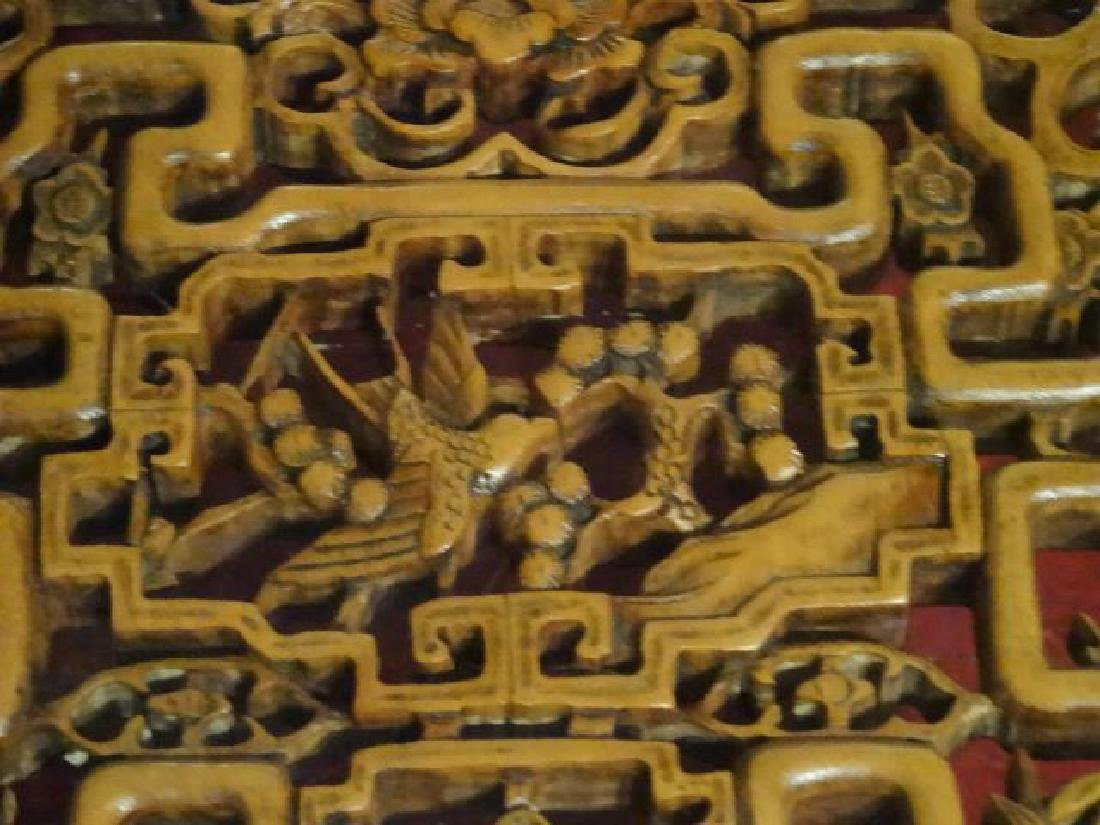 CHINESE CARVED WOOD COFFEE TABLE, ELABORATELY CARVED - 8