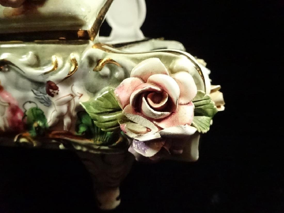CAPODIMONTE STYLE PORCELAIN GRAND PIANO SCULPTURE, - 6