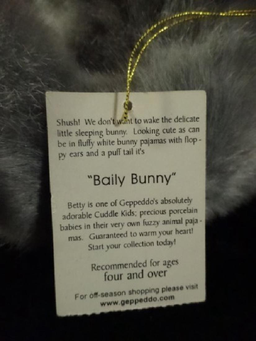 GEPPEDO PORCELAIN DOLL, BAILY BUNNY, WITH BOX, APPROX - 6