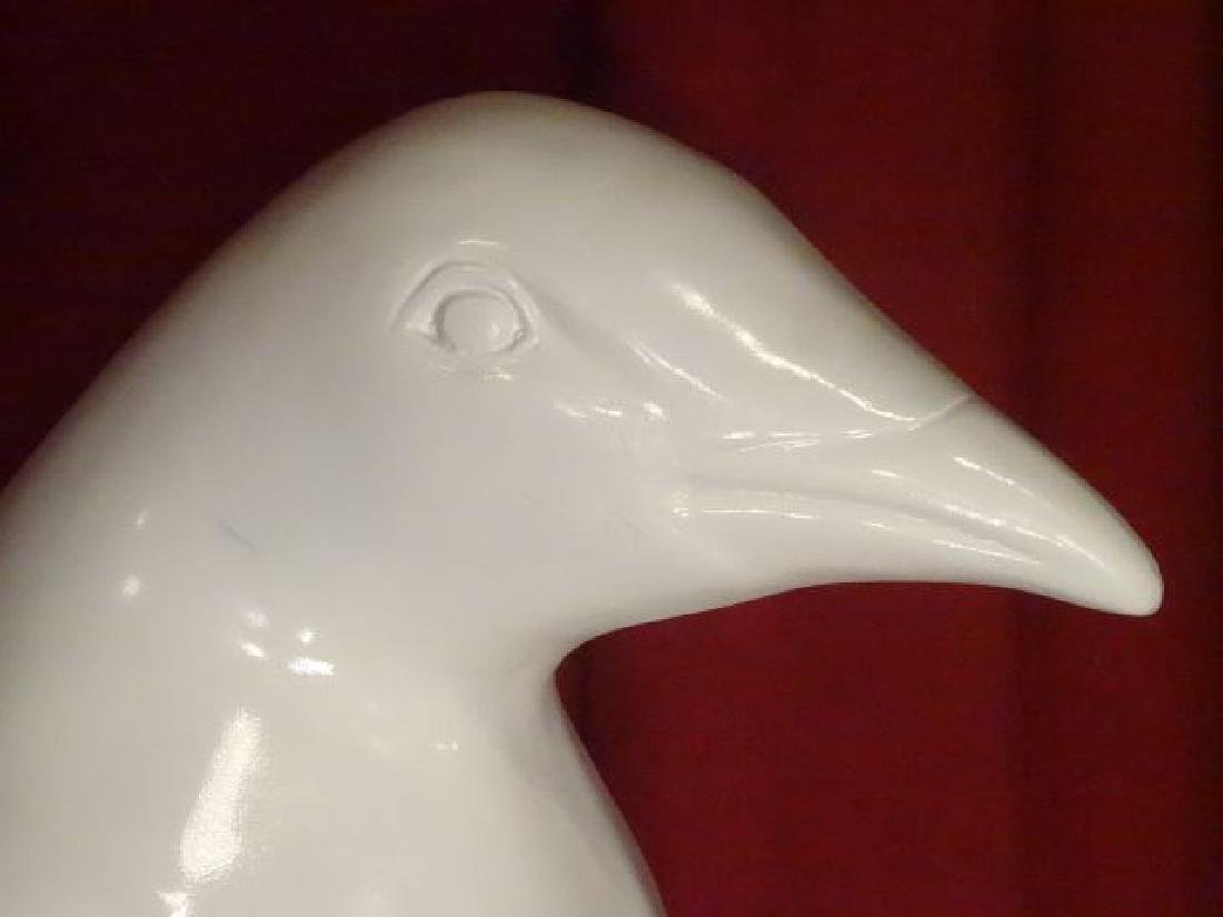 HUGE WHITE PENGUIN SCULPTURE, PAINTED COMPOSITE, - 4