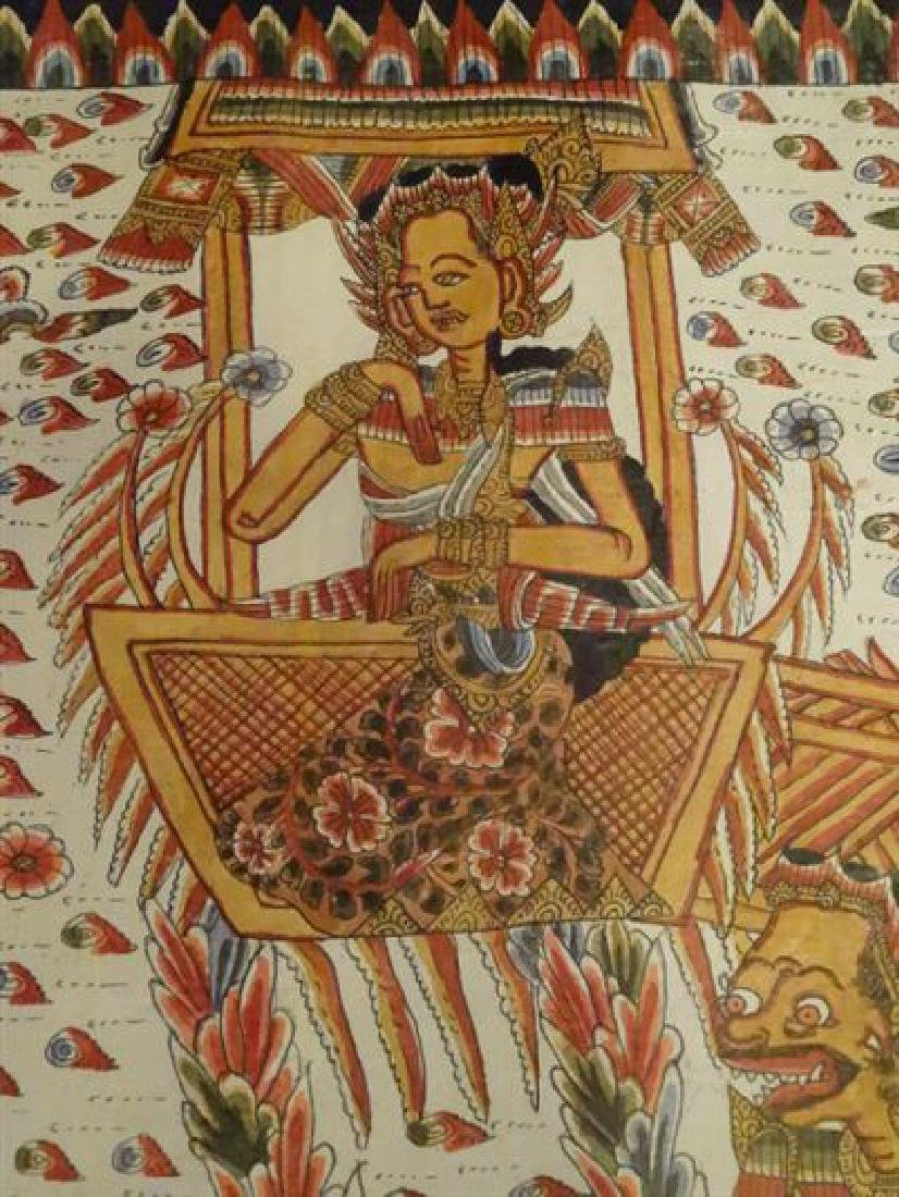 LARGE INDIAN SOUTHEAST ASIAN PAINTING ON FABRIC, - 7