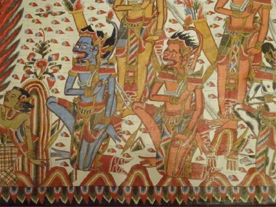 LARGE INDIAN SOUTHEAST ASIAN PAINTING ON FABRIC, - 8