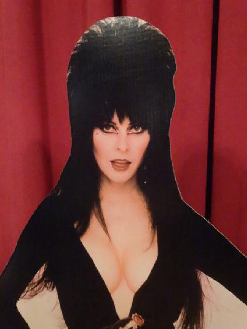 LARGE ELVIRA CARDBOARD CUTOUT FIGURE, ALMOST LIFESIZE, - 4