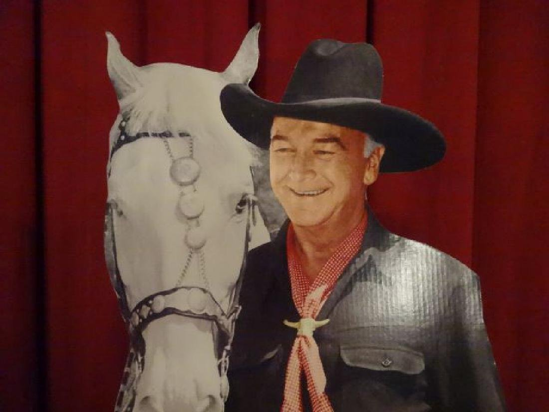 LARGE ROY ROGERS CARDBOARD CUTOUT FIGURE, WITH TRIGGER, - 2