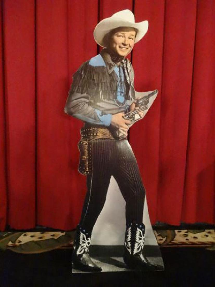 LARGE ROY ROGERS CARDBOARD CUTOUT FIGURE, ALMOST
