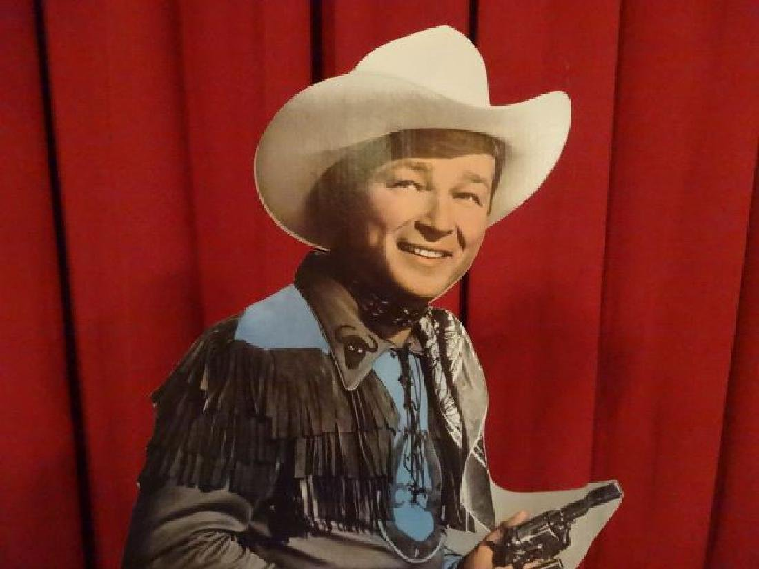 LARGE ROY ROGERS CARDBOARD CUTOUT FIGURE, ALMOST - 2