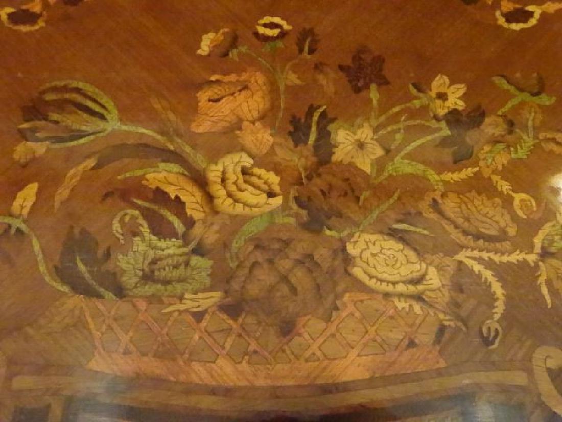 LOUIS XV STYLE MARQUETRY TABLE, GILT METAL ORLMOLU, - 10