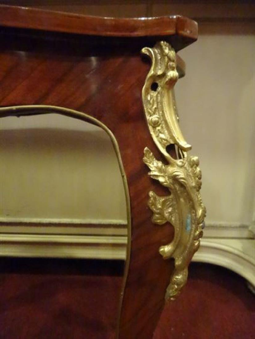 LOUIS XV STYLE MARQUETRY TABLE, GILT METAL ORLMOLU, - 7