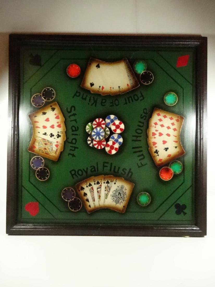 """LARGE POKER THEME 3D WALL HANGING, APPROX 21.5"""" X 21.5"""""""