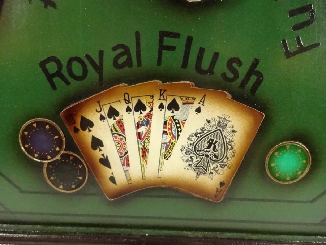 """LARGE POKER THEME 3D WALL HANGING, APPROX 21.5"""" X 21.5"""" - 3"""