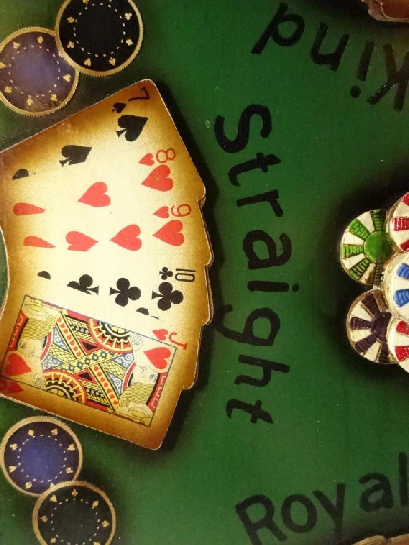 """LARGE POKER THEME 3D WALL HANGING, APPROX 21.5"""" X 21.5"""" - 4"""
