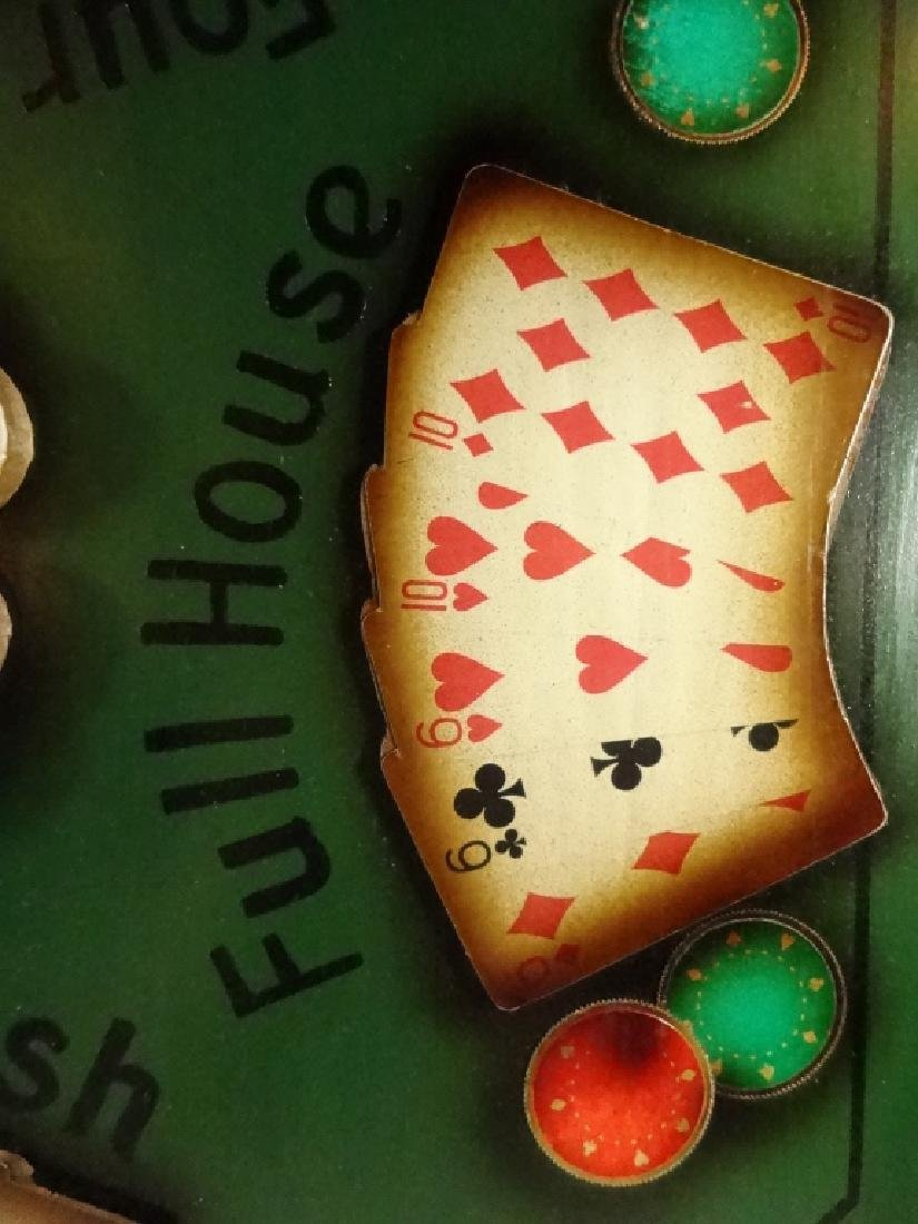 """LARGE POKER THEME 3D WALL HANGING, APPROX 21.5"""" X 21.5"""" - 5"""