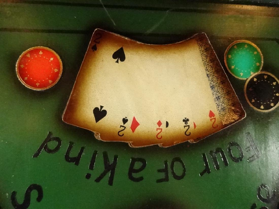 """LARGE POKER THEME 3D WALL HANGING, APPROX 21.5"""" X 21.5"""" - 6"""