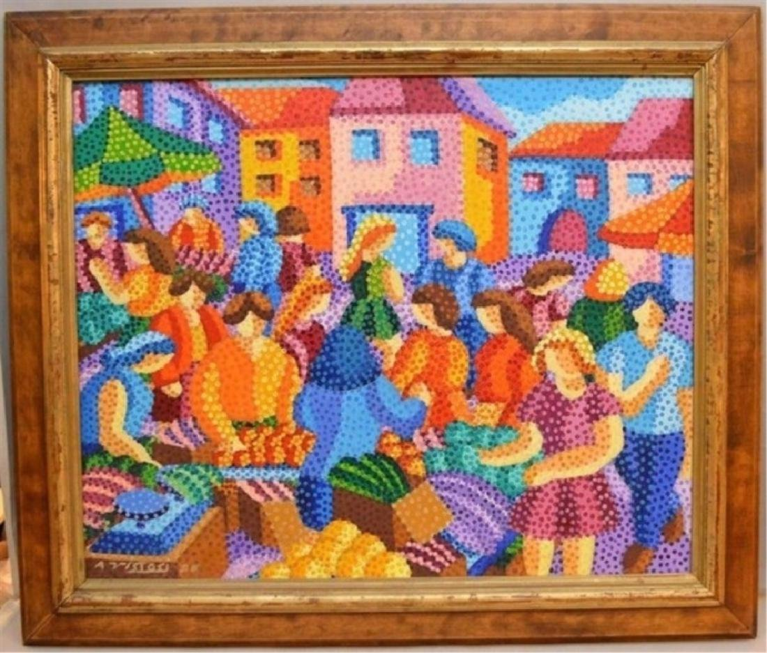 ALAIN VISTOSI OIL ON CANVAS PAINTING, FRENCH