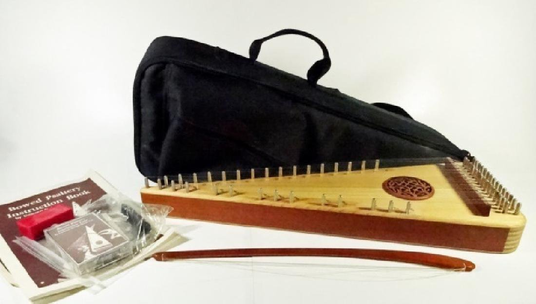 BOWED PSALTERY WITH SOFT BAG, MADE BY UNICORN STRINGS,