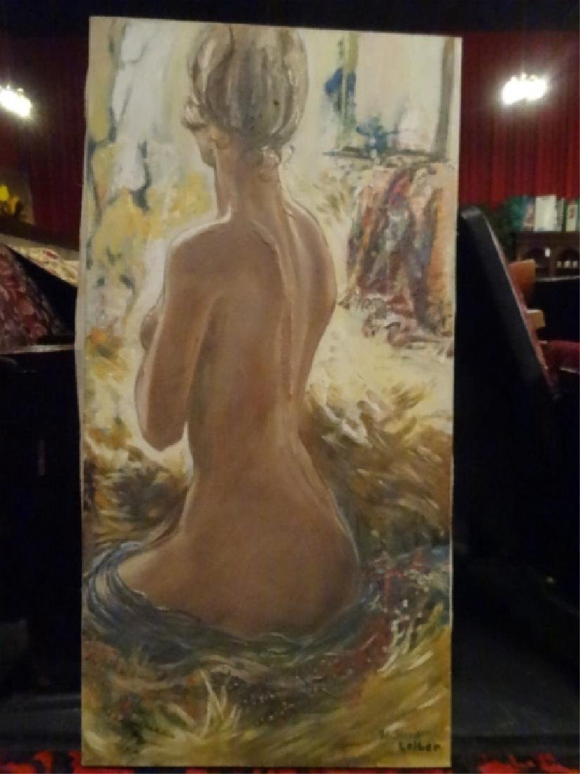 FEMALE NUDE PAINTING ON CANVAS, GALLERY WRAPPED, SIGNED