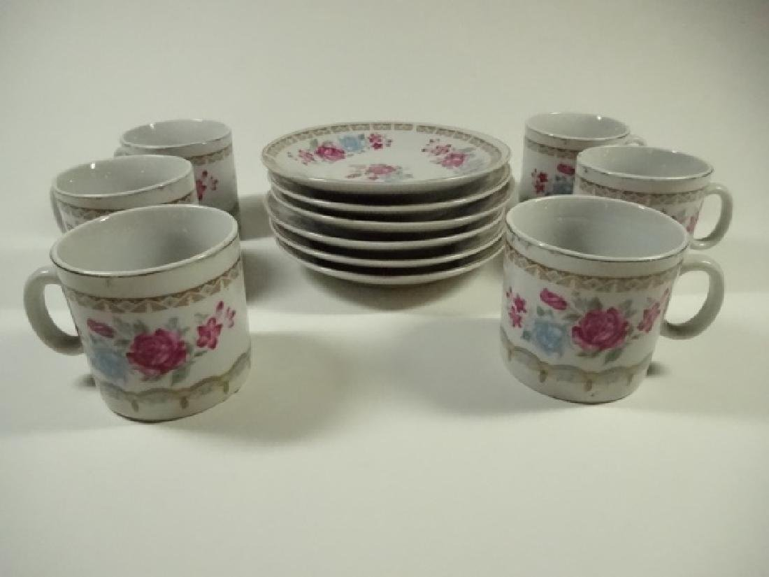 12 PC DEMITASSE CUPS & SAUCERS, INCLUDES 6 SAUCERS & 6