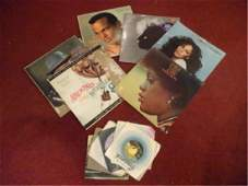 LARGE COLLECTION VINTAGE LP RECORDS AND 45 RPM RECORDS