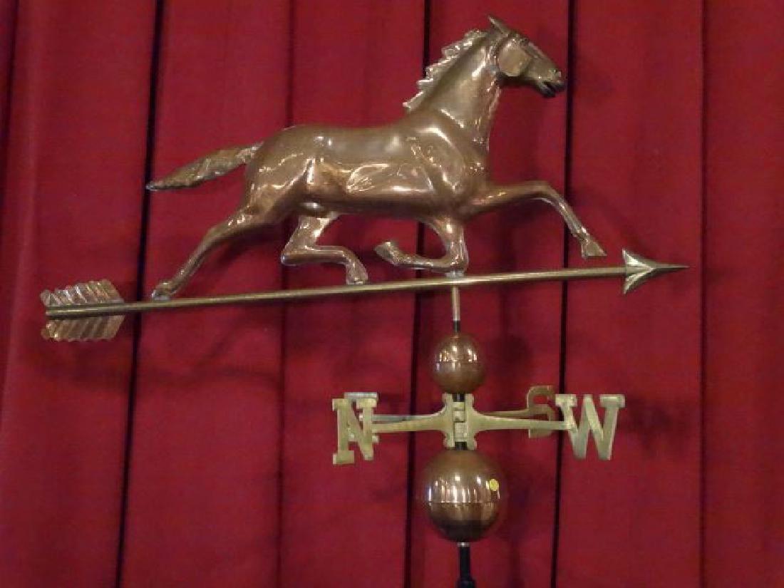 LARGE COPPER WEATHERVANE, HORSE FIGURE, NEW EXCELLENT