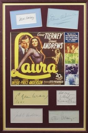 LAURA: Selection of individual signed cards and album