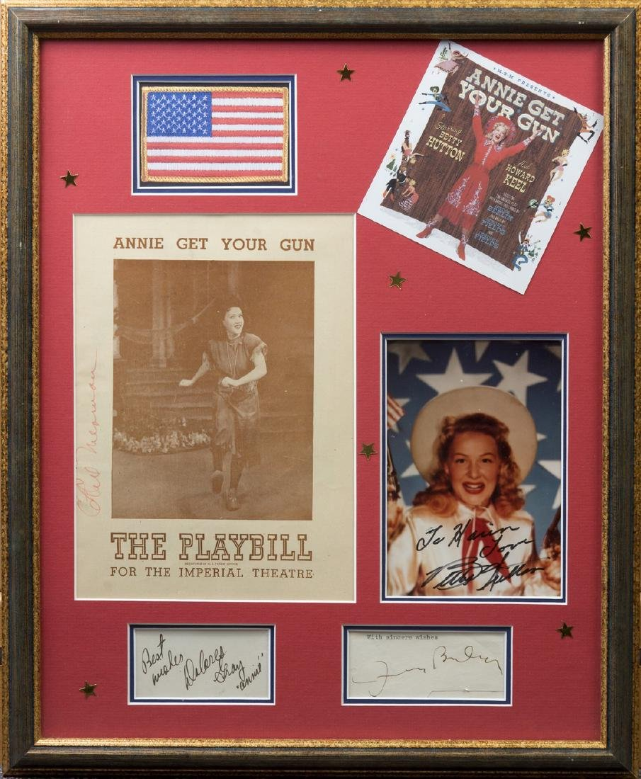 ANNIE GET YOUR GUN: Small selection of signed pieces,