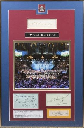 ROYAL ALBERT HALL: An unusual small selection of signed