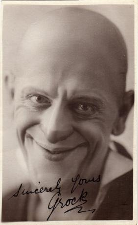 GROCK: (1880-1959) Swiss Clown. Vintage signed postcard