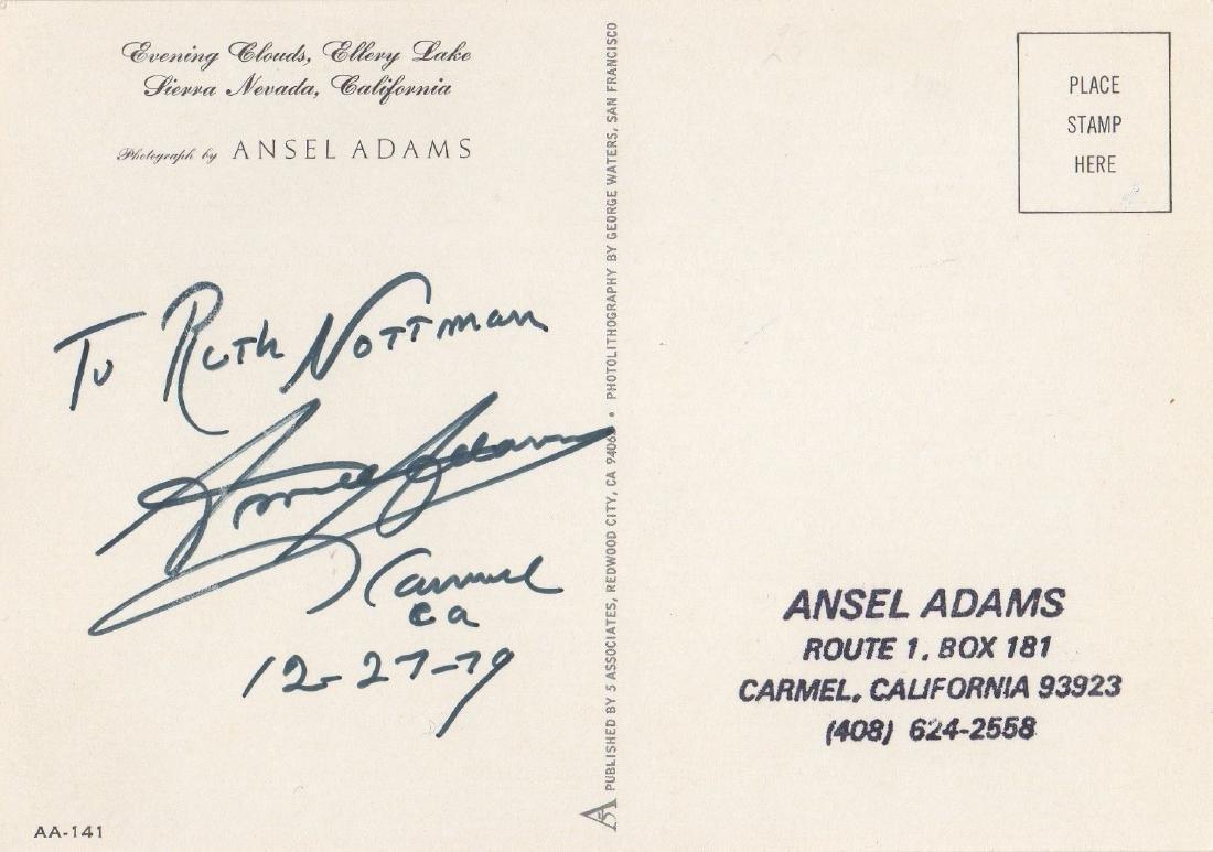 ADAMS ANSEL: (1902-1984) American Photographer. T.L.S.,