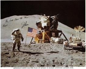 IRWIN JIM: (1930-1991) American Astronaut, Lunar Module