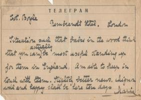YUGOSLAVIA: Small selection of signed telegrams,
