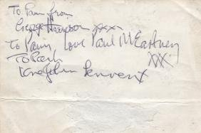 BEATLES THE: A rare, early vintage signed and inscribed