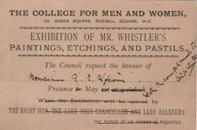 WHISTLER JAMES MCNEILL: (1834-1903) American Artist. An