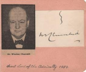 CHURCHILL WINSTON S.: (1874-1965) British Prime