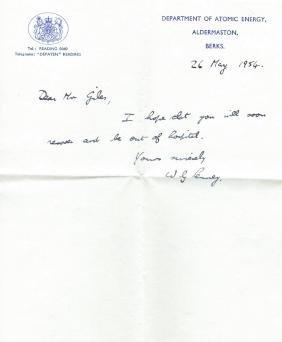 PENNEY WILLIAM: (1909-1991) English Mathematician, head