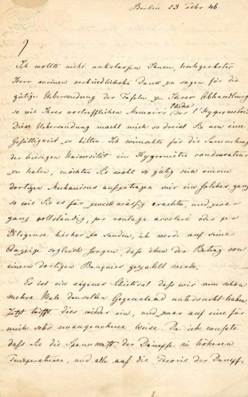 MAGNUS HEINRICH GUSTAV: (1802-1870)