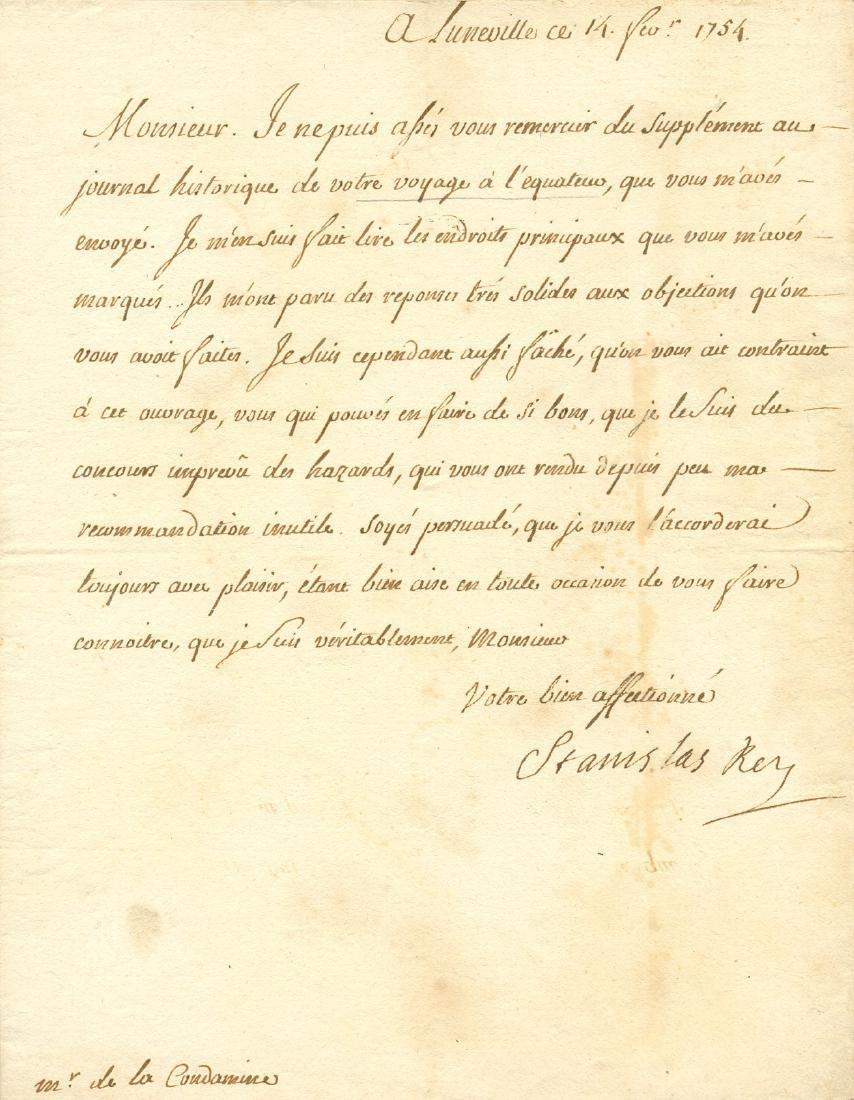 STANISLAW I: (1677-1766)