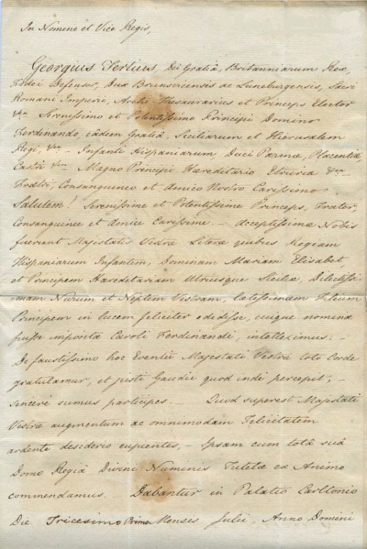 GEORGE IV: (1762-1830)