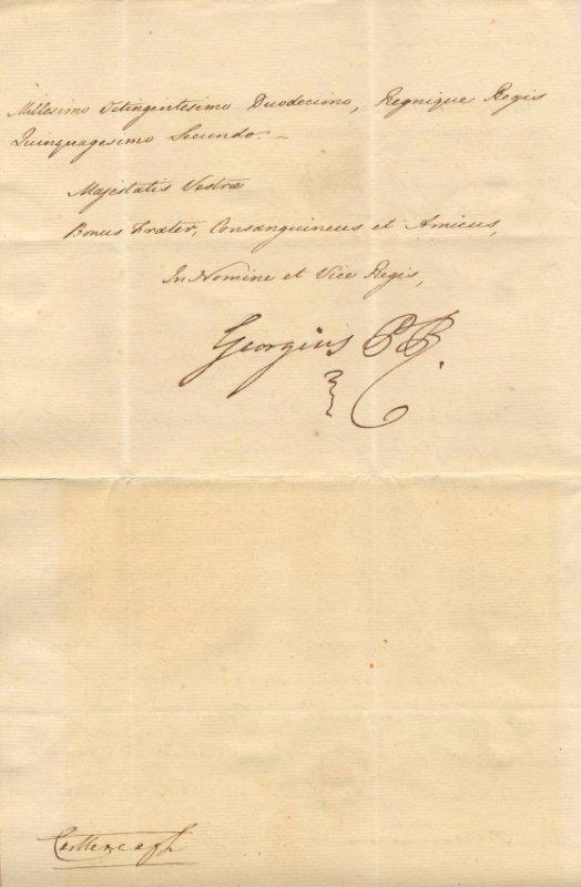 GEORGE IV: (1762-1830) - 2